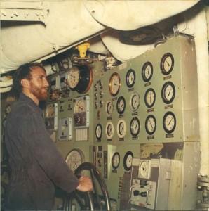 Alan Henderson in Taranaki's engine room